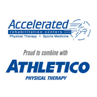 Accelerated Rehabilitation Centers combined with Athletico Physical Therapy logo