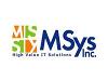MSys Inc jobs